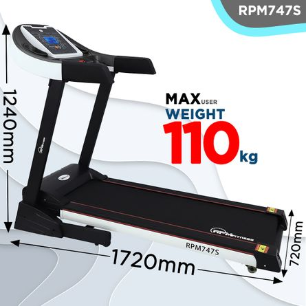 RPM Fitness - RPM747S (3.5HP Peak Power) Treadmill with Manual Incline & Auto Lubrication