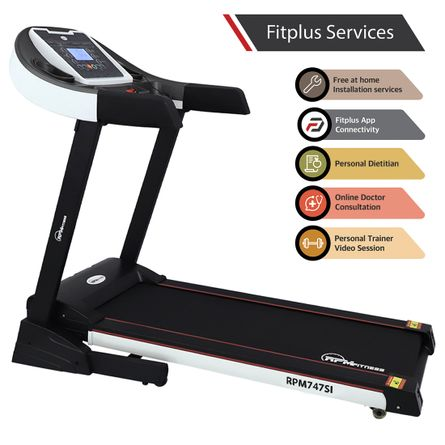 RPM Fitness - RPM747SI (3.5HP Peak Power) Treadmill with Auto Incline & Easy Lubrication