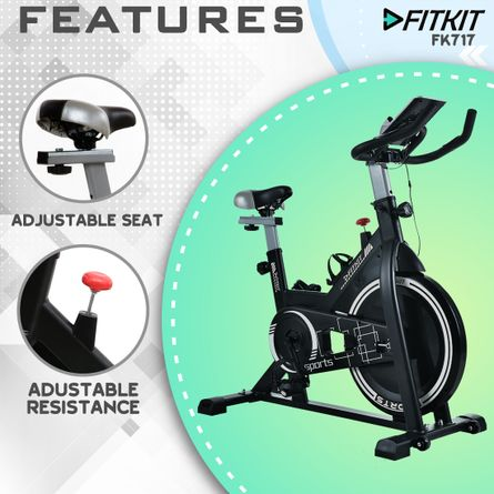 FITKIT - Fitkit FK717 (14lbs Flywheel) Spinner Exercise Bike with Free installation and Connected Live Interative Sessions by OneFitPlus