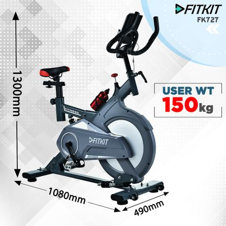 RPM Fitness - Fitkit FK727 (30lbs Flywheel) Spinner Exercise Bike with Free installation and Connected Live Interative Sessions by OneFitPlus.